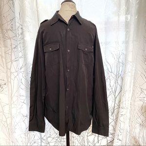Billabong black collar button up long sleeve shirt